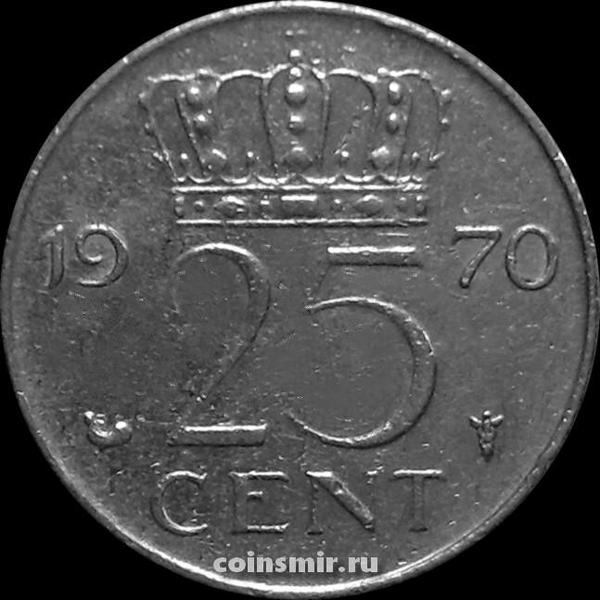 25 центов 1970 Нидерланды.