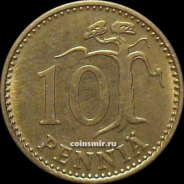 10 пенни 1974 S Финляндия.