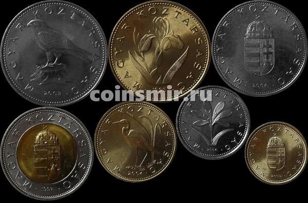 Набор из 7 монет 1995-2004  Венгрия.