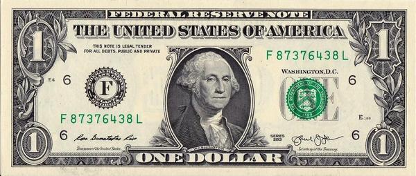 1 доллар 2013 F США.