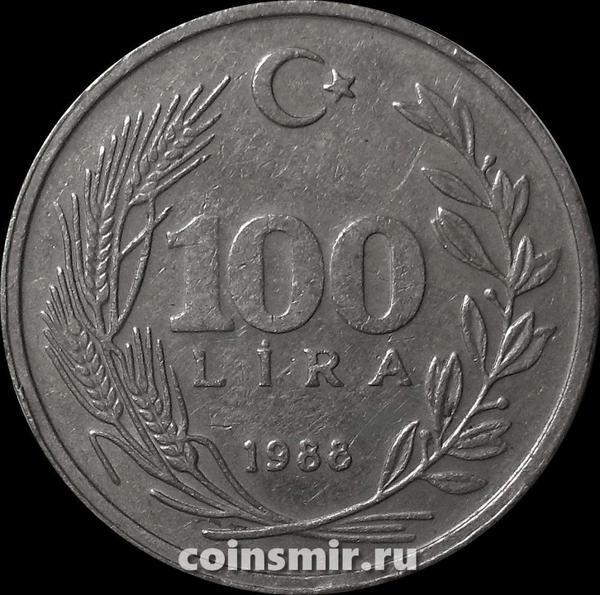 100 лир 1988 Турция.