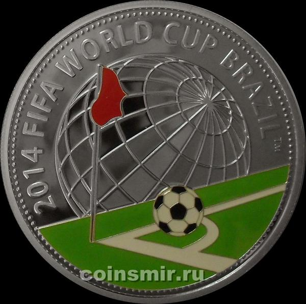 10 рублей 2013 Беларусь. Чемпионат мира по футболу 2014 в Бразилии.