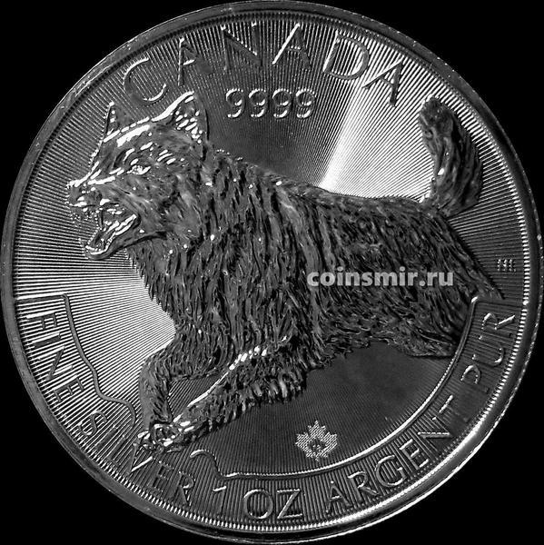 5 долларов 2018 Канада. Волк.