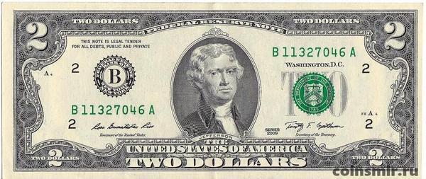 2 доллара 2009 В США.