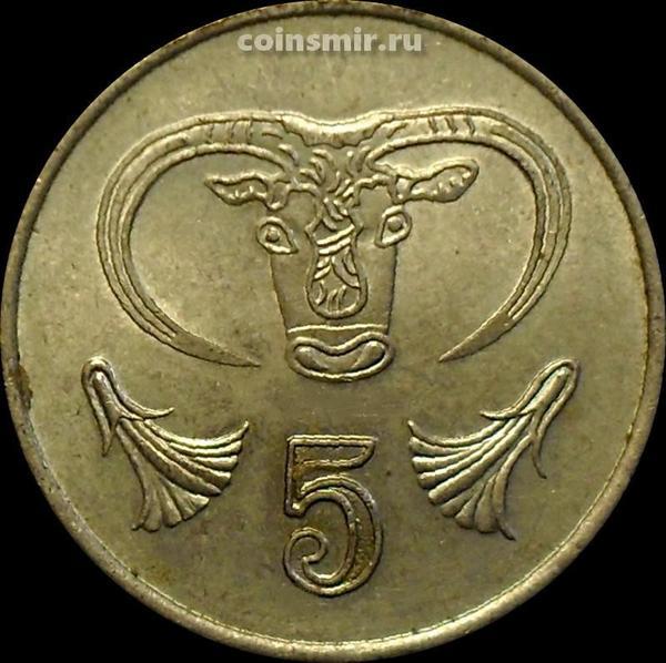 5 центов 1985 Кипр. Бык.