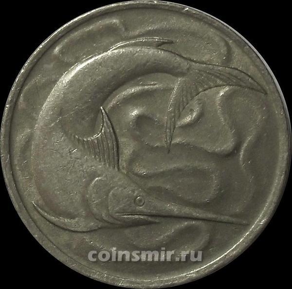 20 центов 1978 Сингапур. Рыба-меч.