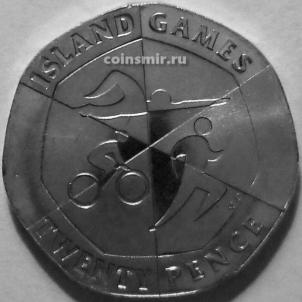 20 пенсов 2019 АС Гибралтар. Островные игры. Триатлон.