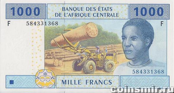 1000 франков 2002 F КФА BEAC (Центральная Африка). Экваториальная Гвинея.