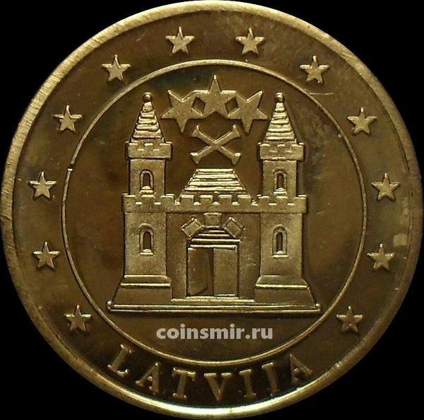 20 евроцентов Латвия. Без даты. Европроба. Specimen.