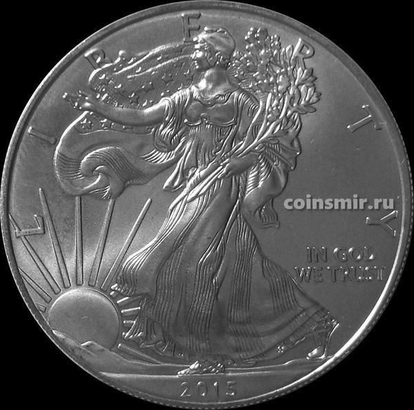 1 доллар 2015 США. Шагающая Свобода.