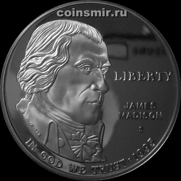 1 доллар 1993 S США. Джеймс Мэдисон. Билль о правах.