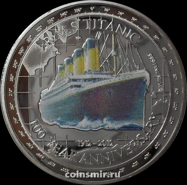 Жетон 2012. 100-летие гибели Титаника. Тувалу (копия)