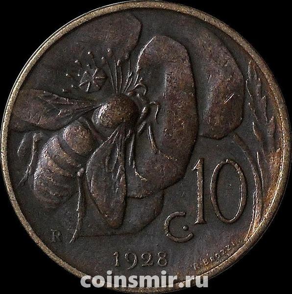 10 чентезимо 1928 Италия.
