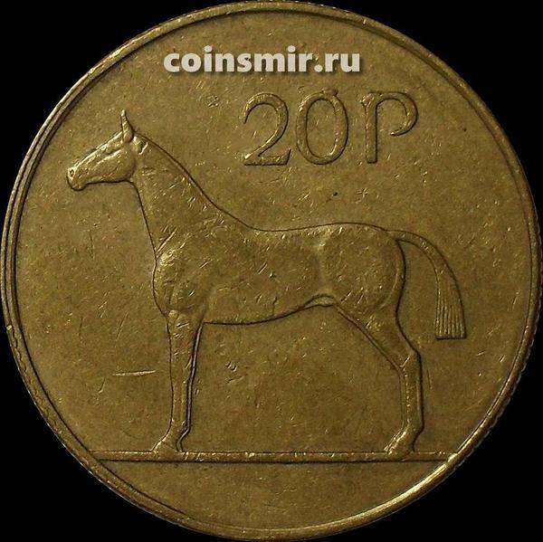 20 пенсов 1996 Ирландия. Лошадь.