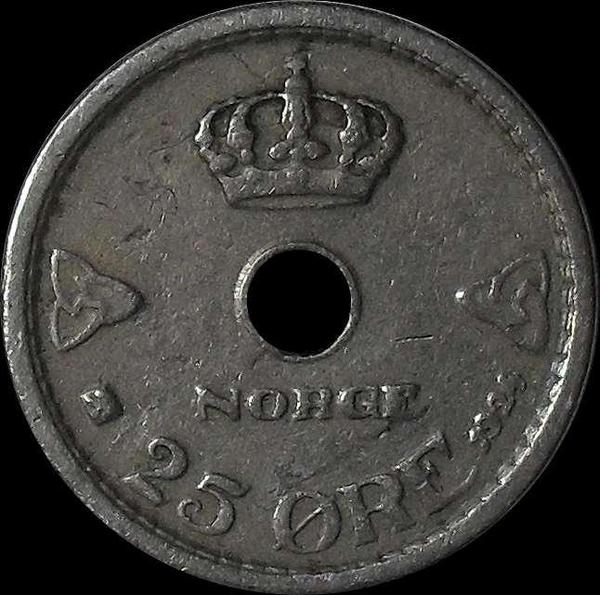 25 эре 1924 Норвегия.
