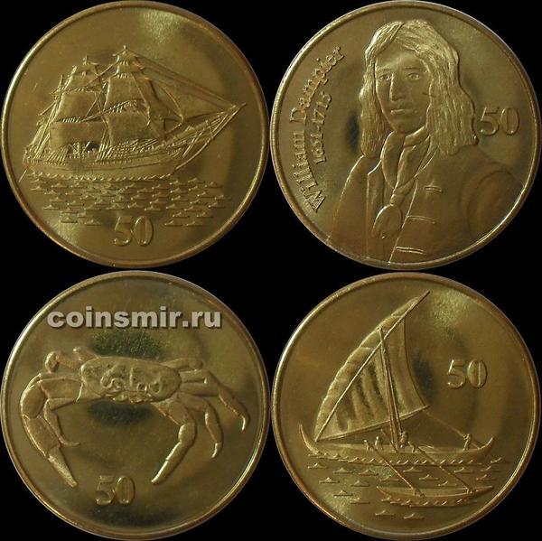Набор из 4 монет 2016 остров Рождества.