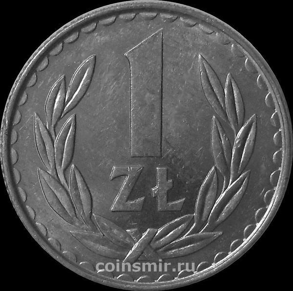1 злотый 1986 Польша.