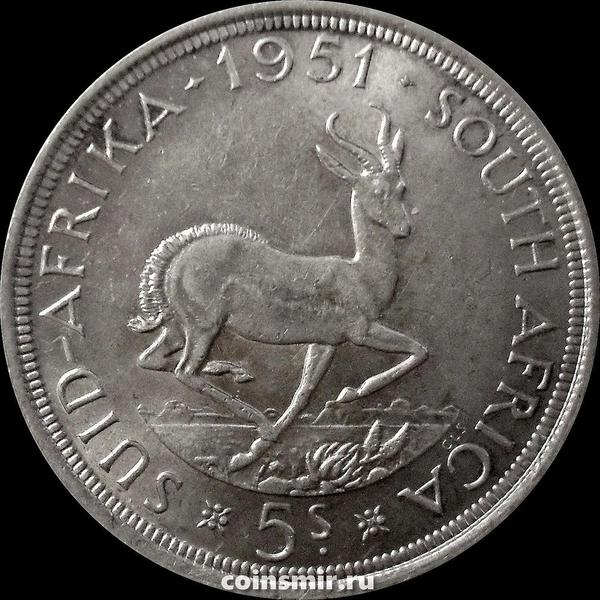 5 шиллингов 1951 Южная Африка ЮАР. Газель. Георг VI