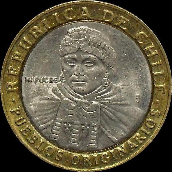 100 песо 2005 Чили.