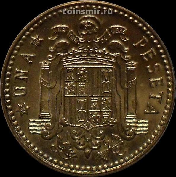 1 песета 1975 (1980) Испания.