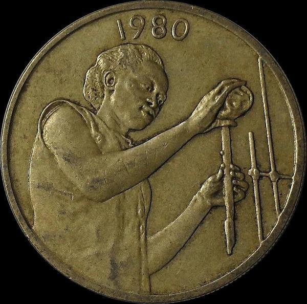25 франков 1980  КФА BCEAO (Западная Африка). ФАО.