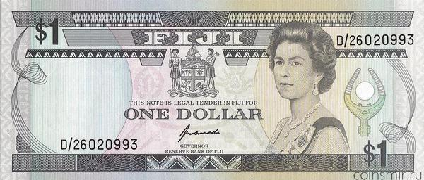 1 доллара 1993 Фиджи.