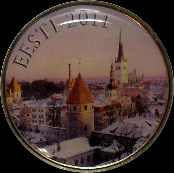 2 евро 2011 Эстония. Проба. Specimen.