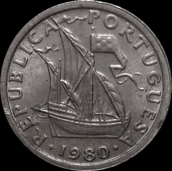 2,5 эскудо 1980 Португалия.