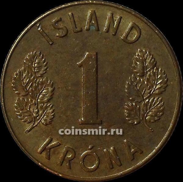 1 крона 1971 Исландия.