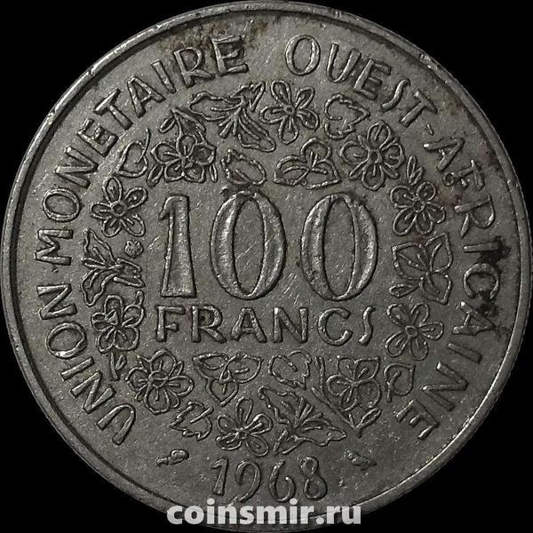 100 франков 1968  КФА BCEAO (Западная Африка).