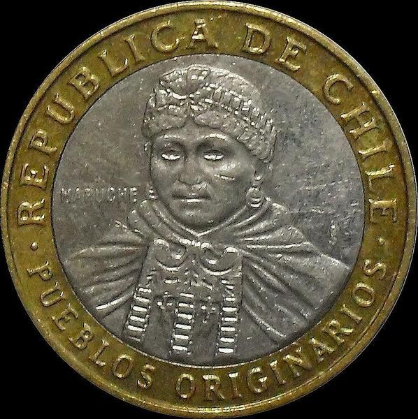100 песо 2013 Чили.