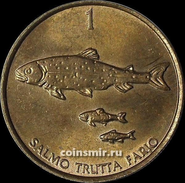 1 толар 2000 Словения. Кумжа.