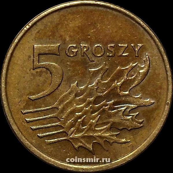 5 грошей 2000 Польша.