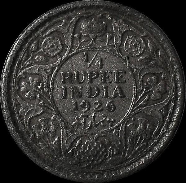1/4 рупии 1926 Британская Индия. Георг V.