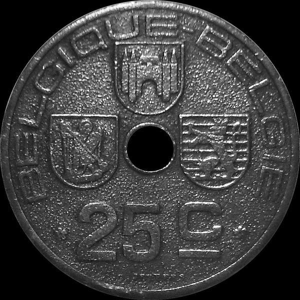 25 сантимов 1942 Бельгия. BELGIQUE- BELGIE.