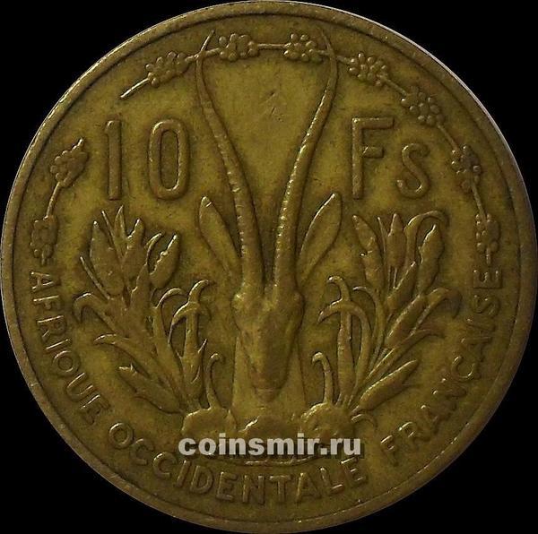 10 франков 1956 Французская Западная Африка.