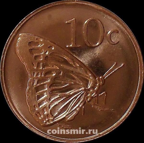 10 центов 2017 Токелау. Бабочка.
