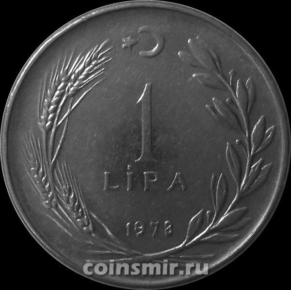 1 лира 1978 Турция. (в наличии 1979 год)