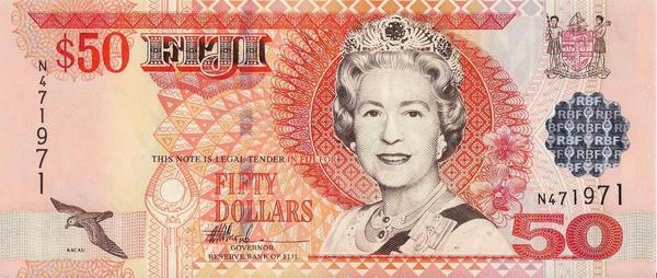 50 долларов 2002 Фиджи.
