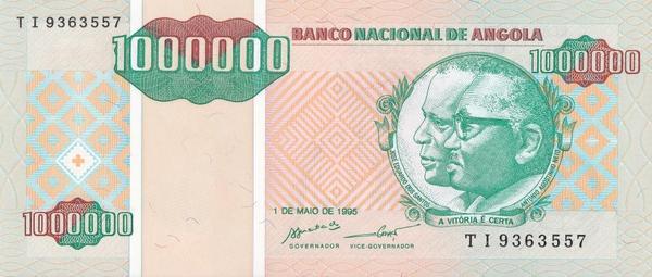 1000000 кванз 1995 Ангола.
