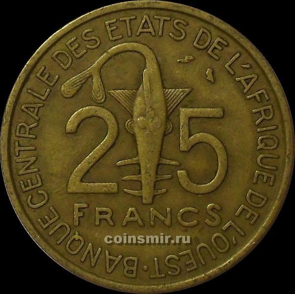 25 франков 1971  КФА BCEAO (Западная Африка).
