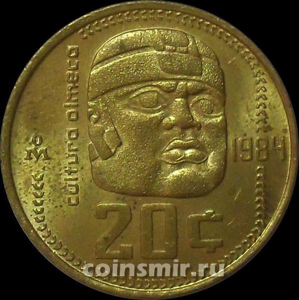 20 сентаво 1984 Мексика.