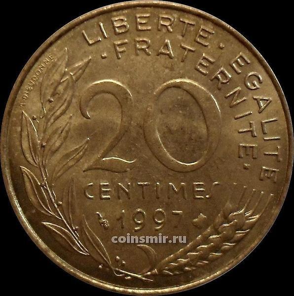 20 сантимов 1997 Франция.