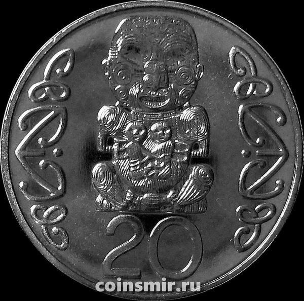 20 центов 1991 Новая Зеландия. Идол Пукаки.