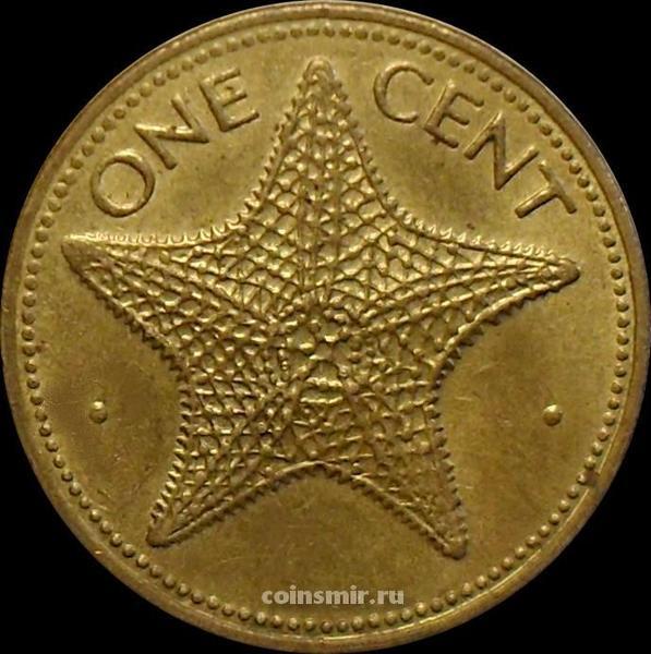1 цент 1974 Багамские острова. Морская звезда.