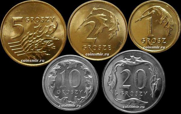 Набор из 5 монет 2010-2014  Польша.