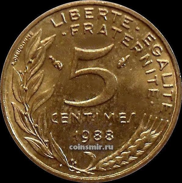 5 сантимов 1988 Франция.