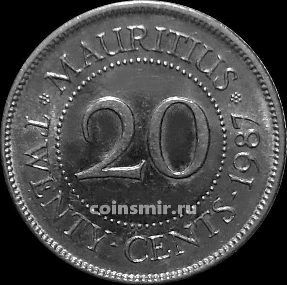 20 центов 1987 Маврикий.