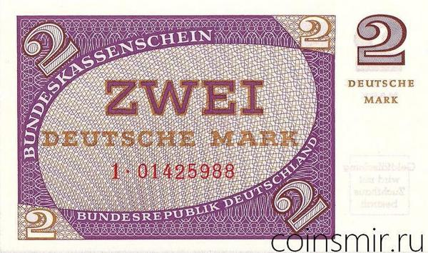 2 марки 1967 Германия.