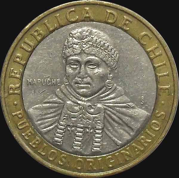 100 песо 2011 Чили.
